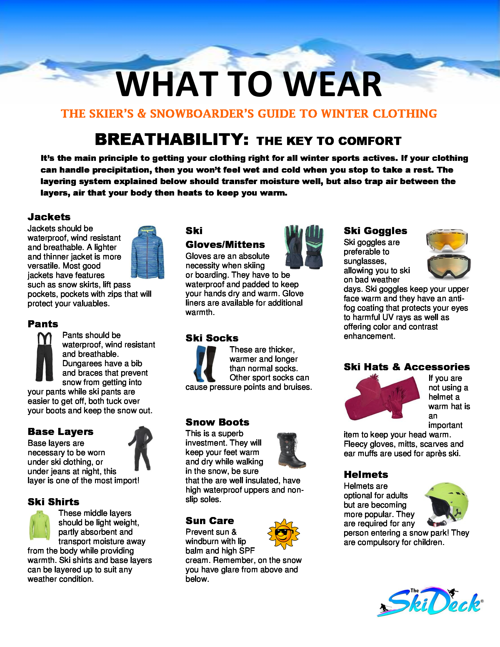 What to wear page
